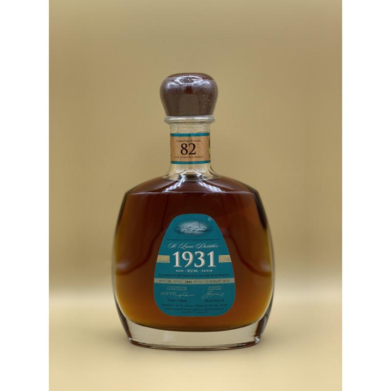 """Rhum Vieux Sainte Lucia """"1931"""" 70cl"""