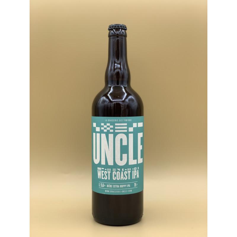 """Bière Blonde Brasserie Uncle """"West Coast Ipa"""" 75cl"""