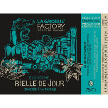 """Bière Blondche Brasserie Grobul'Factory """"Bieille de Jour"""" 75cl"""