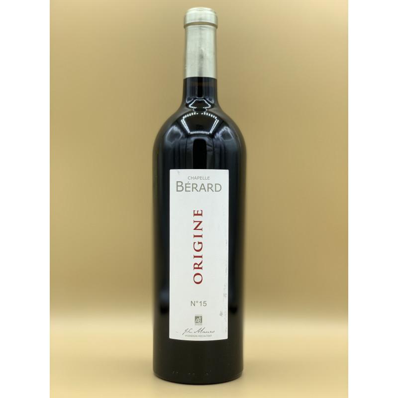 """AOC Bordeaux Château Bérard """"Origine N°15"""" Rouge 2015 75cl"""
