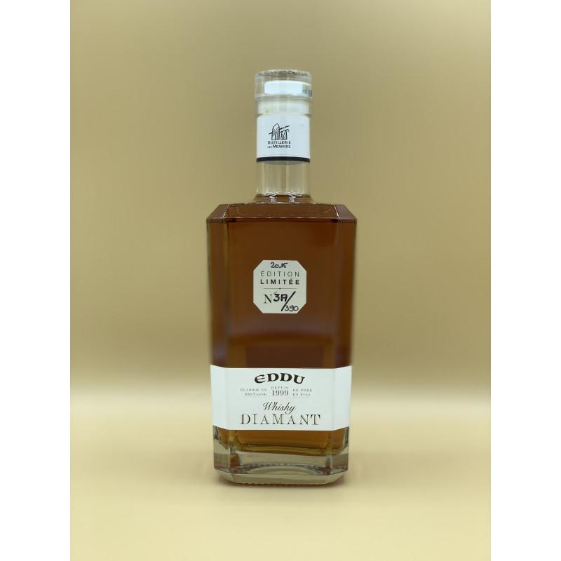 """Whisky Breton Pur Blé Noir Eddu """"Diamant"""" 70cl"""