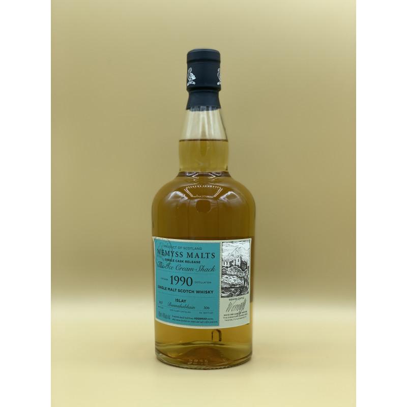 """Whisky Single Malt Wemyss Malt """"Bunnahabhain 1990"""" 70cl"""