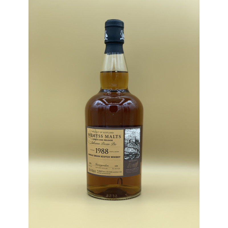 "Whisky Single Grain Wemyss Malt ""Invergordon 1988"" 70cl"