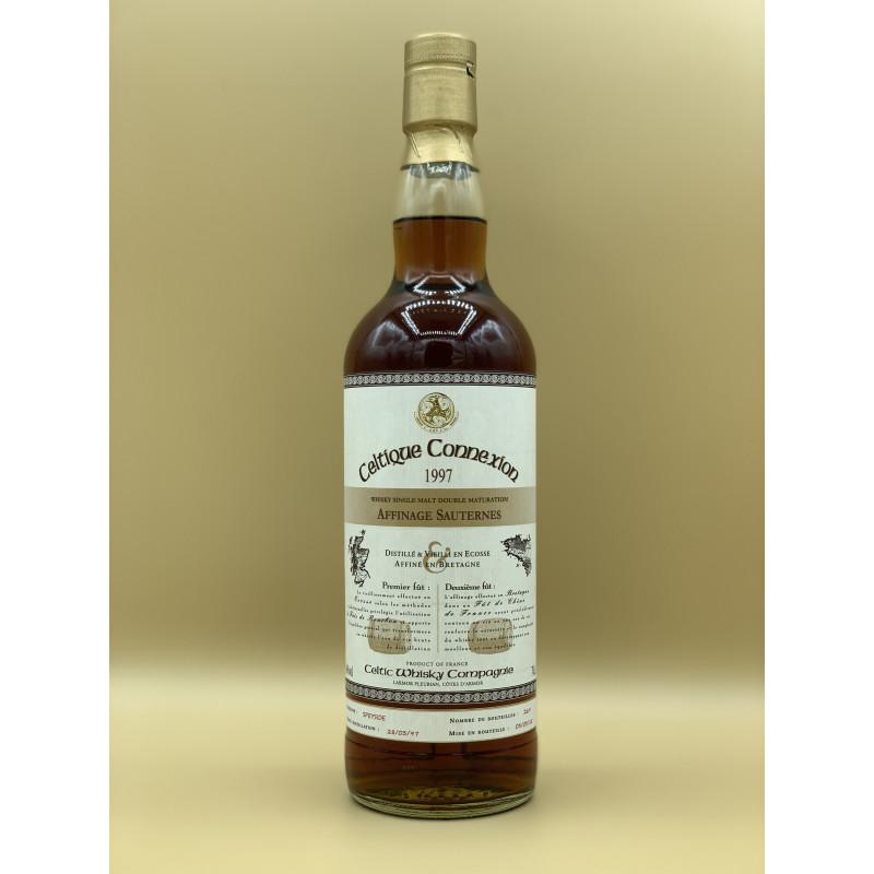 """Whisky Single Malt Celtique Connexion 1997 """"Sauternes"""" 70cl"""