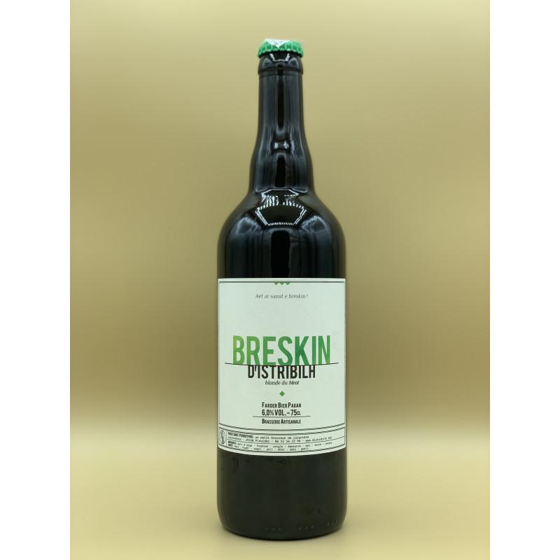 "Bière Blonde Brasserie D'istribilh ""Breskin"" 75cl"