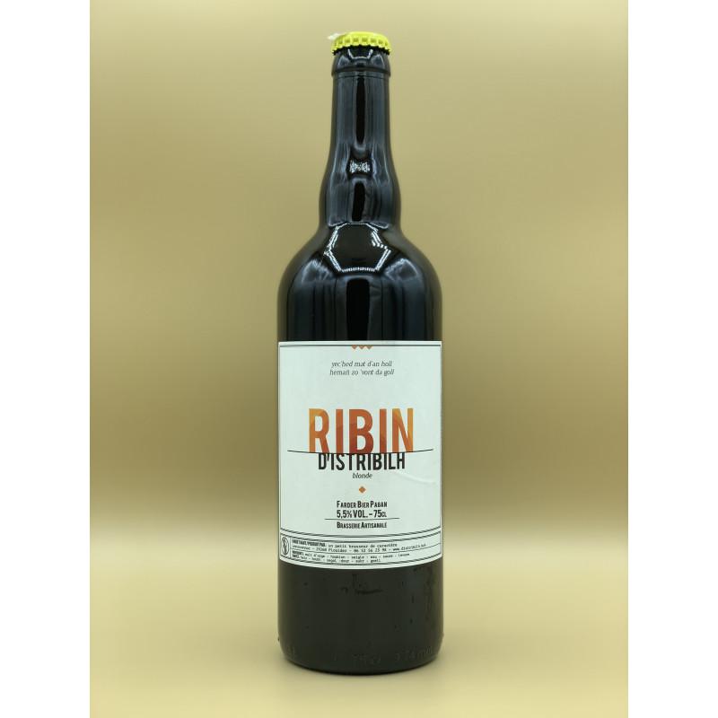 "Bière Blonde Brasserie D'istribilh ""Ribin"" 75cl"