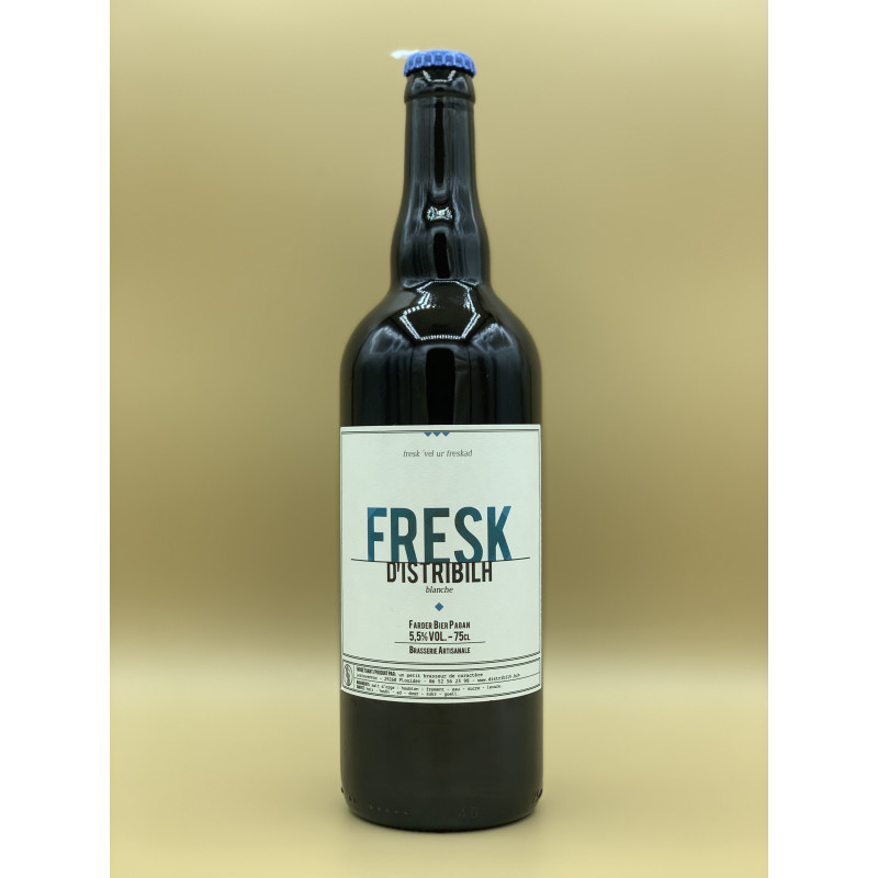 "Bière Blanche Brasserie D'istribilh ""Fresk"" 75cl"