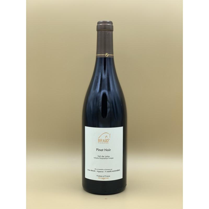 """IGP Val de Loire """"Domaine Julien Braud"""" Cuvée Pinot Noir 2020 75cl"""